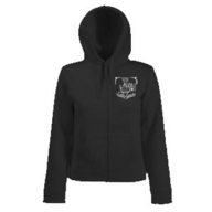 Lady-Fit Hooded Sweat Jacket (schwarz)