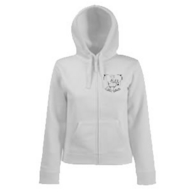Lady-Fit Hooded Sweat Jacket (weiß)
