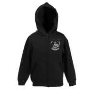 Kids Zip Hooded Sweat (schwarz)