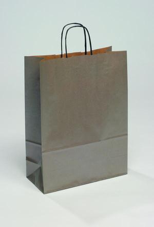 Weihnachtstasche silber (240x110x310 mm)