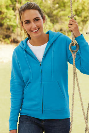 Lady-Fit Hooded Sweat Jacket (deep navy)