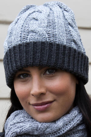 Shades of Grey Knitted Hat