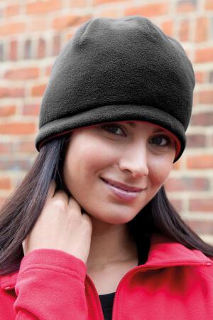 Reversible Fleece Skull Hat