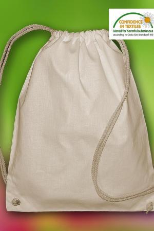 `Pine` Organic Cotton Drawstring Backpack