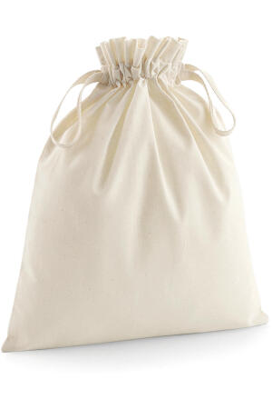 Organic Cotton Drawcord Bag natur - S