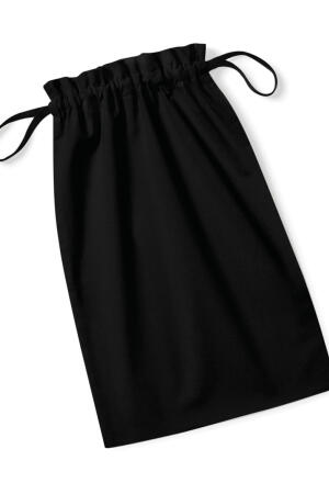 Organic Cotton Drawcord Bag black - S