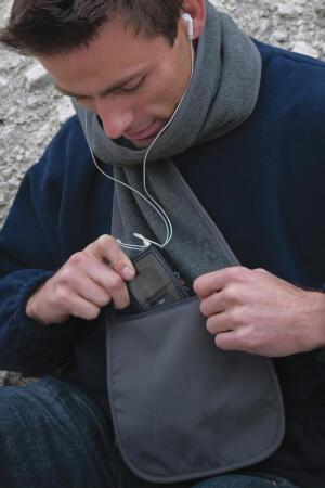 Fleece Schal mit Tasche