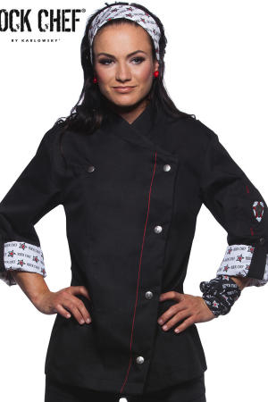 Fashionable Rock Chef`s Ladies` Jacket