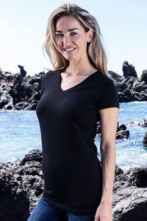 Women's Slim Fit V-Neck-T Long