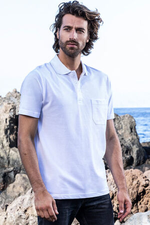 Men's Heavy Polo Pocket