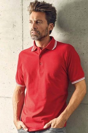 Men's Polo Contrast Stripes