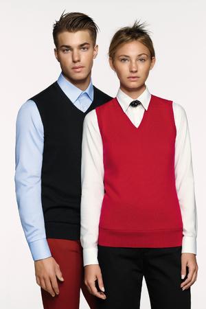 Damen-V-Pullunder Premium-Cotton