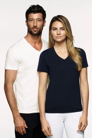 Damen-V-Shirt Stretch