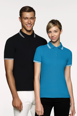 Damen-Poloshirt Twin-Stripe