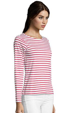 Women´s Long Sleeve Striped T-Shirt Marine