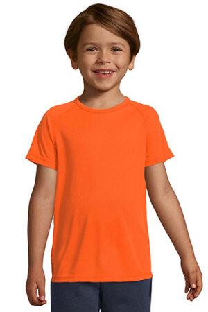 Kids Raglan Sleeved T-Shirt Sporty