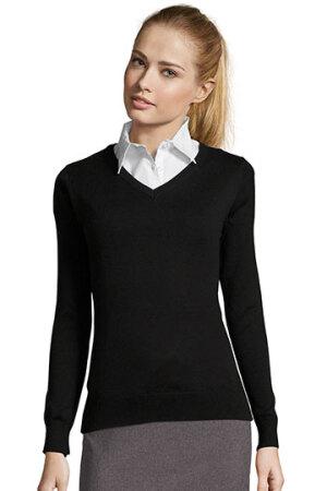 Womens V Neck Sweater Galaxy