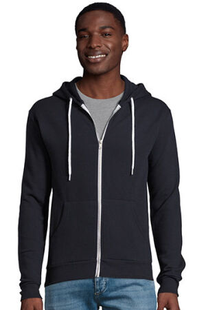 Hooded Zipped Jacket Silver