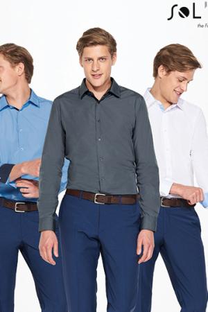 Long Sleeves Fitted Shirt Broker Men