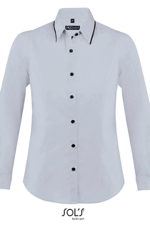 Womens Long Sleeves Fitted Shirt Baxter