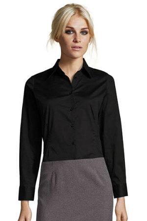 Ladies Long Sleeved Stretch Shirt Eden