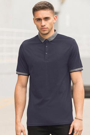 Mens Fashion Polo mit Jacquard-Kontrast