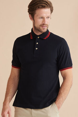 Tipped Collar And Cuff Polo