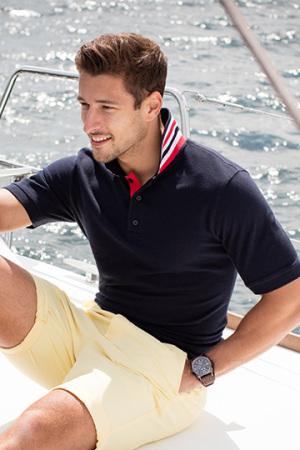 Men's Stripe Collar Polo