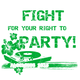 Abschlussmotiv A153 - Fight for your right to Party!