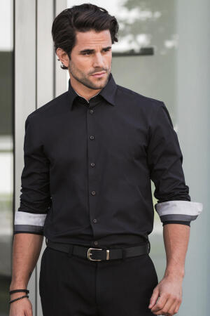 Men`s LS Tailored Contrast Ultimate Stretch Shirt
