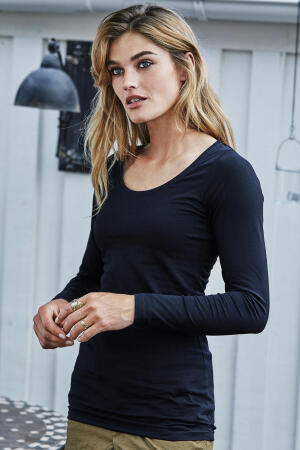Ladies Stretch Long Sleeve Extra Long