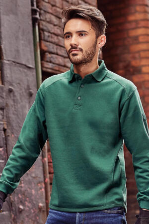 Workwear Polo-Sweatshirt