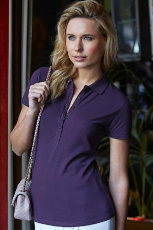 Ladies Stretch-5-Button Polo