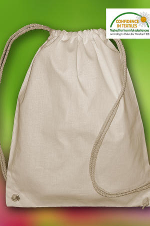 `Pine` Organic Cotton Drawstring Backpack