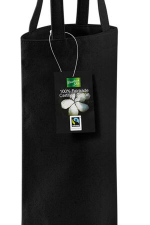 Fairtrade Cotton Bottle Bag black