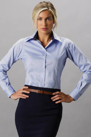 Women`s Contrast Premium Oxford Shirt LS
