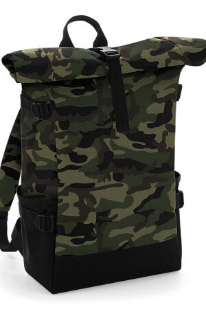 Block Roll-Top Backpack