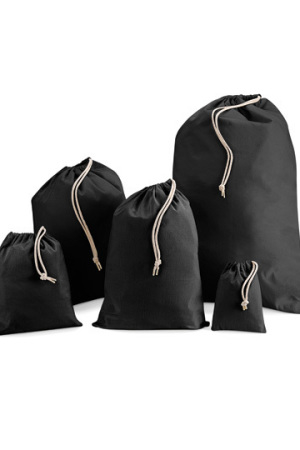 Cotton Stuff Bag black XXS
