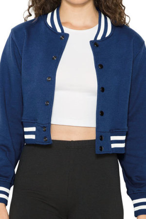 Women`s Heavy Terry Cropped Club Jacket