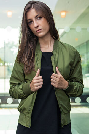 Ladies Nylon Bomber Jacket