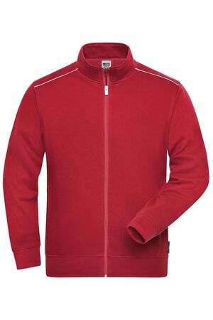 Men's Workwear Sweat-Jacket - SOLID -