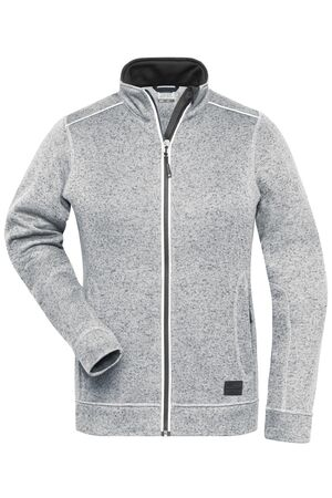Ladies' Knitted Workwear Fleece Jacket - SOLID -