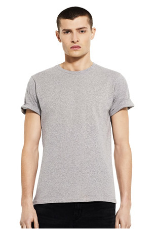 ORGANIC MENS ROLL UP T-SHIRT