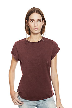 WOMENS ROLLED UP SLEEVE ORGANIC