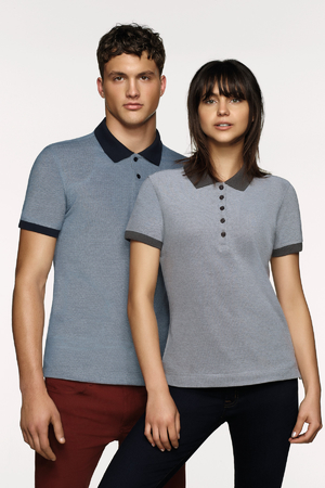 Damen-Poloshirt Bird´s Eye