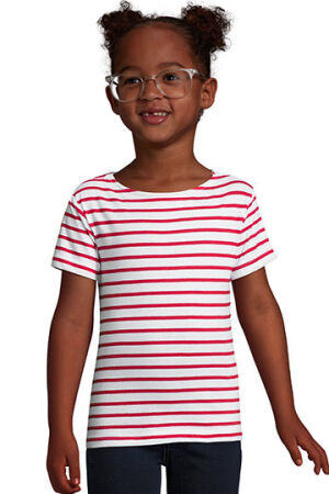Kids Round Neck Striped T-Shirt Miles