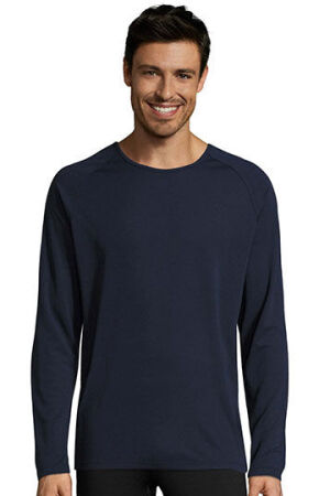 Mens Long-Sleeve Sports T-Shirt Sporty