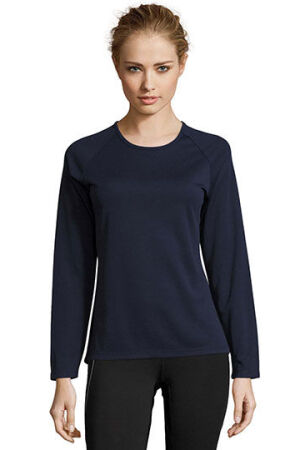Womens Long-Sleeve Sports T-Shirt Sporty