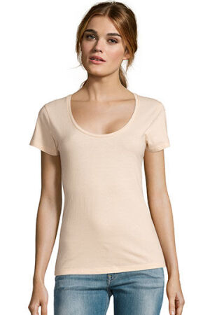 Womens Low-Cut Round Neck T-Shirt Metropolitan