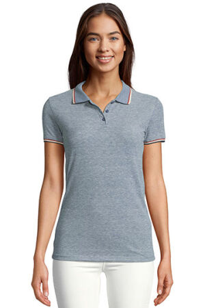 Womens Heather Polo Shirt Paname